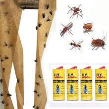 Load image into Gallery viewer, 32 Rolls/ 4 Rolls Strong Sticky Fly Paper Eliminate Flies Insect Bug Glue Paper Catcher Trap Tape Bugs Catcher Strip Bugs Sticky Paper  Pest Killer (Fliegenkiller)
