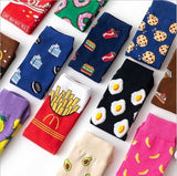 Women's Socks Cotton Colorful Cartoon Cute Funny Happy Kawaii Sports Socks for Girl Christmas Gift