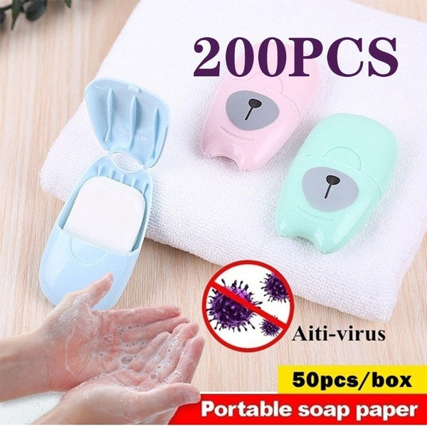 200/100/50Pcs Home Travel Sterilization and Disinfection Soap Tablets Anti-virus Disinfect Hand