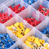 1200/720/480/280pcs  Insulated Cable Connector Electrical Wire Assorted Crimp Spade Butt Ring Fork Set Ring Lugs Rolled Terminals Kit