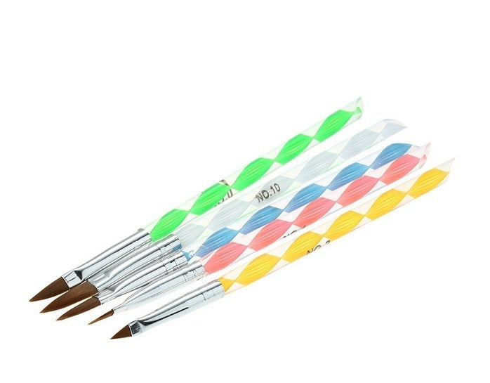 5pcs Acrylic Nail Art UV Gel Carving Pen Brush Liquid Powder DIY No. 4/6/8/10/12