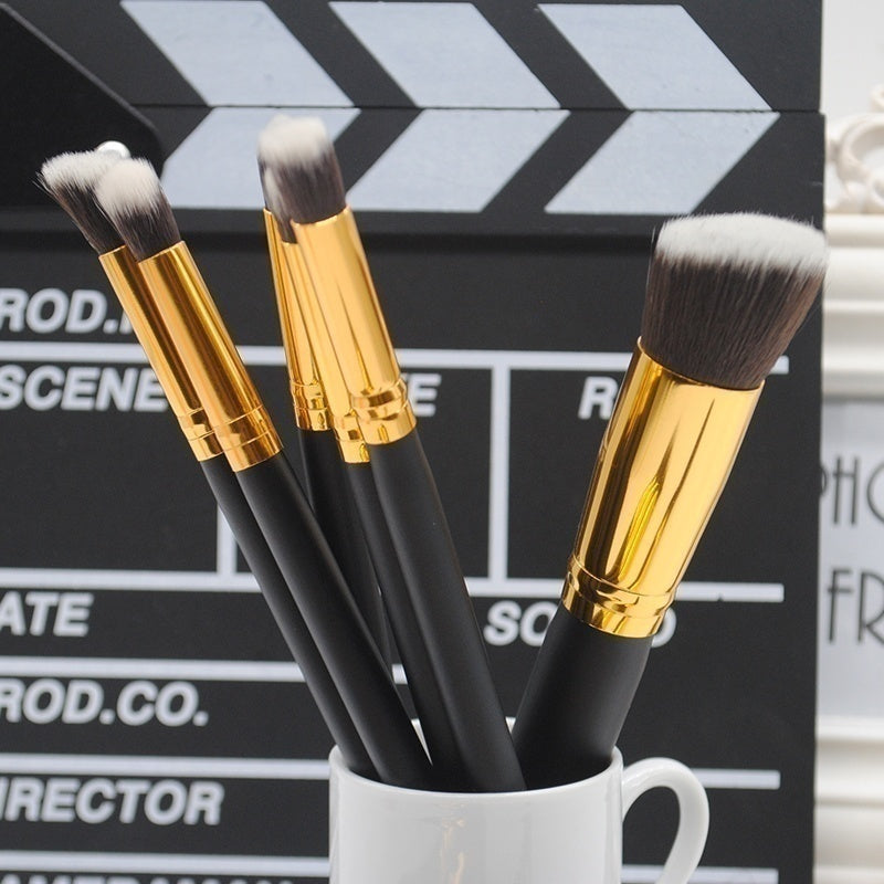 10pcs/set Wood Portable Brushes Foundation Makeup Set