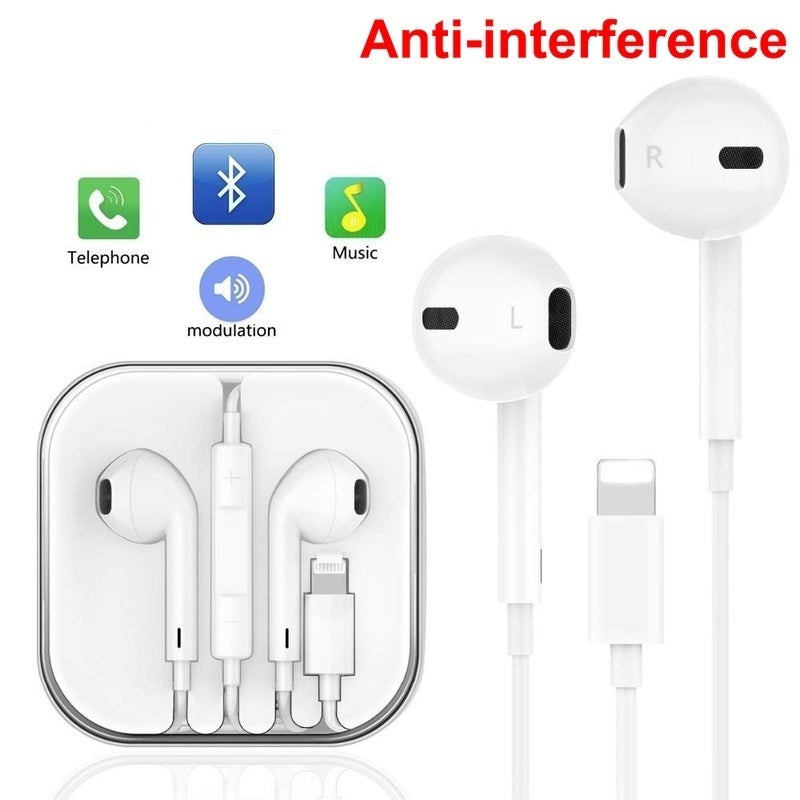 2020 In Ear Headphones Wired Bluetooth Earphone for Apple IPhone 11 Pro Max X XR XS Max 8 7 Plus Earbuds with Microphone EarPhone