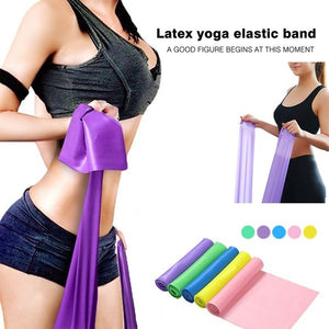1.5M High Quality Yoga Equipment Training Elastic Resistance Band Yoga Rubber Loops Pilates Band Women Fitness Accessories Rubber Belt