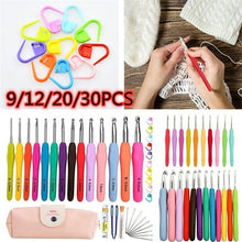Load image into Gallery viewer, 9/12/20/30PCS Set Sewing Tools Set DIY Crochet Hooks Knit Weave Craft Sweater Sewing Needles Set Knitting Needle 2.0mm-8.0mm