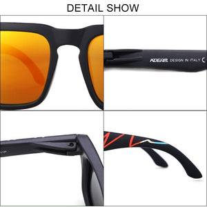 Fashion Outdoor Sport Polarized Sunglasses Men Women Square Unisex Mirror Sun Glasses UV400