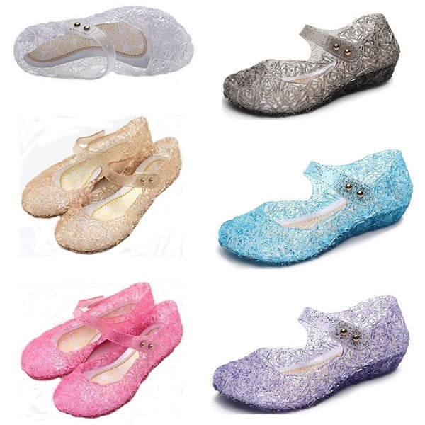 Princess Girls Sandals Jelly Dance Party Cosplay Shoes for Kids Toddler