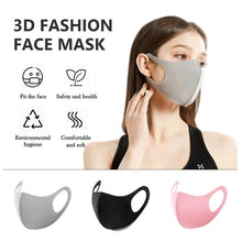 Load image into Gallery viewer, High Quality 1/4 Pcs Breathable Comfortable Masks Anti Flu Windproof Protective Mouth Mask 3D Black Color Reusable Earloop Washable Soft Face Mask