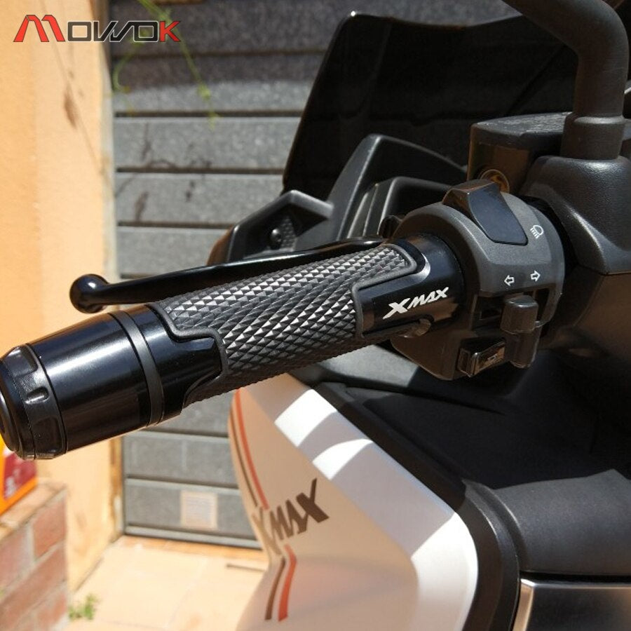 New With LOGO xmax Motorcycle Handle grip ends Handlebar Grips For  xmax300 X-max 300 2017 2018