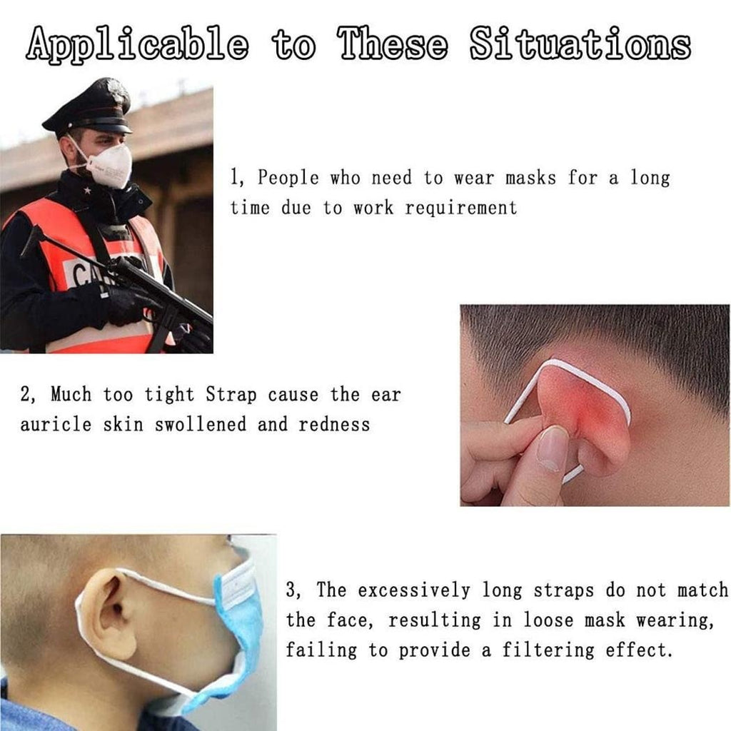 Adjustable Anti-Slip Mask Ear Strap Extension Mouth Mask Ear Loops Retainer