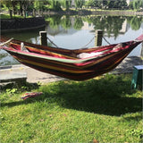 300kg Self-driving Tour Portable Canvas Travel Beach Swing Bed Leisure Hammocks Bearing Camping Hammock