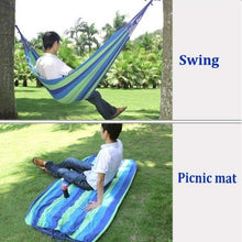 Load image into Gallery viewer, 300kg Self-driving Tour Portable Canvas Travel Beach Swing Bed Leisure Hammocks Bearing Camping Hammock