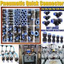 Load image into Gallery viewer, Pneumatic Quick Connectors fittings PU 5/32,1/4, 5/16, 3/8 Tube Straight Push in Connectors Air Tube joint Coupler