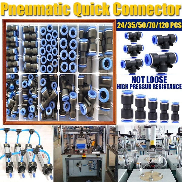 Pneumatic Quick Connectors fittings PU 5/32,1/4, 5/16, 3/8 Tube Straight Push in Connectors Air Tube joint Coupler