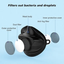 Load image into Gallery viewer, 3 Pcs N99 FFP3 KN95 Mask With 10 Filter Valve Food Grade Silicone Grade Protective Mask Haze Prevention Mask