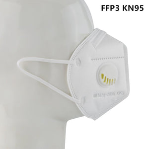 3 Pcs N99 FFP3 KN95 Mask With 10 Filter Valve Food Grade Silicone Grade Protective Mask Haze Prevention Mask