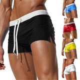 Men's Fashion Beach Breathable Speed Boxer Swim Shorts with Back Pocket