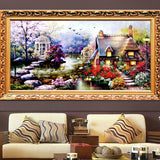 DIY Colorful 4 Season Tree Counted Cross Stitch Kits Embroidery Home Decoration