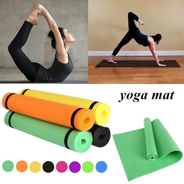 Foam Yoga Mat 4mm Thick Anti-slip Gymnastics Exercise Pad For Body Building Sports Training Mat