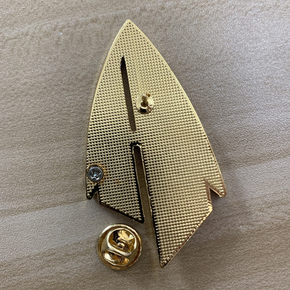 Star Trek Admiral JL Picard Pin The Next Generation Communicator Gold Pin Brooches Badge Star Accessories Trek Badge Metal