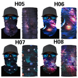 Obacle Neck Gaiter Face Mask Bandana for Dust Wind Sun Protection Seamless Tube Headband Bandana Thin Mask for Men Women for Motorcycle Riding Biker Fishing Cycling Running Sports Festival Raves