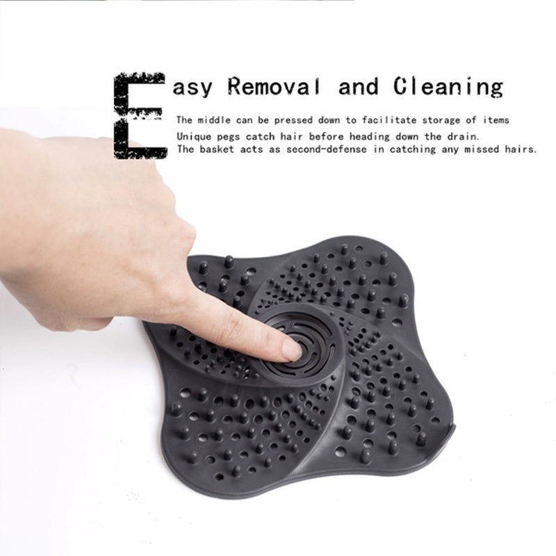 1 Pcs Kitchen Gadgets Accessories Outfall Drain Cover Basin Sink Sewer Strainer Washable Reuseable Home Living Floor Drain Hair Stopper