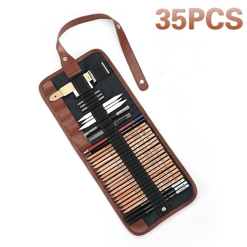 35/29/21Pcs Drawing Pencils Kit Artist Sketching Pencil Charcoal Pencils Extender Paper Pen Cutter Eraser Drawing Set Sketch Tool