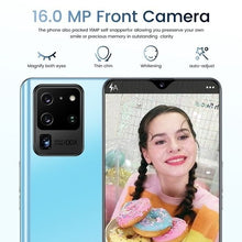 Load image into Gallery viewer, 6.5 Inch Full Screen S30U+ 12+512GB Large Memory Dual Card Face Access Android 10.0 4G/5G Ten Core Phone