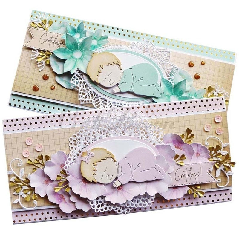 Cute Envelope Metal Cutting Dies Baby Diy Scrapbooking Photo Album Decorative Embossing Dies Paper Card Maker