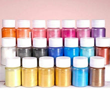Load image into Gallery viewer, 4Box/Set Pearl Pigment Powder Luxury Ultra-Sparkle Metallic Pigments Epoxy Resin DYE