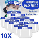 5/10/20PCS Safety Face Shield, Anti-fog Body Fluids Spray Unisex Reusable Adjustable Transparent Full Face Safety Breathable Protective Visor Facial Cover Anti-Spitting Splash