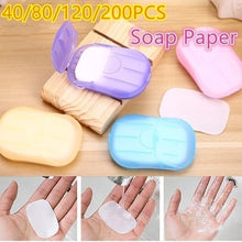 Load image into Gallery viewer, 2 Boxes\/4 Boxes\/6 Boxes\/10Boxes Set Portable Hand Wash Soap Disposable Washing Hand Bath Toiletry Paper Soap Sheets