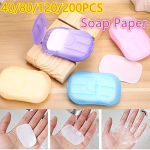 2 Boxes\/4 Boxes\/6 Boxes\/10Boxes Set Portable Hand Wash Soap Disposable Washing Hand Bath Toiletry Paper Soap Sheets