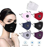 New Breath Valve PM2.5 Mouth Mask, Influenza, Anti-Dust Anti Pollution Mask Cloth Activated Carbon Filter Respirator