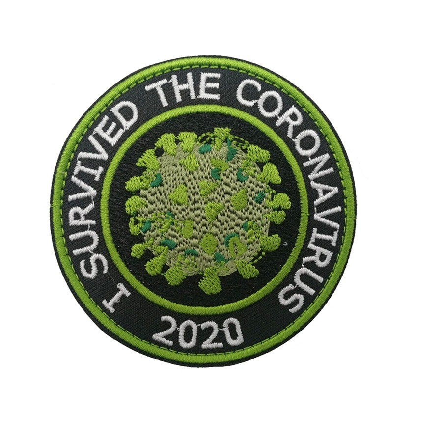 I SURVIVED CORONAVIRUS 2020 Embroidery Fastener Hook & Loop Patches Coronavirus Covid 19 Pandemic Jacket Badge Jeans Applique Bag Cap