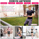 11Pcs Resistance Bands Set Expander Pilates Yoga Exercise Fitness Rubber Loop Tubes Band Stretch Training Home Gyms Workout Elastic Pull Rope