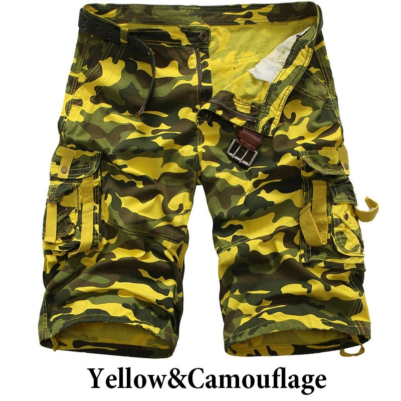 Summer Men's Overalls Camouflage Loose Shorts