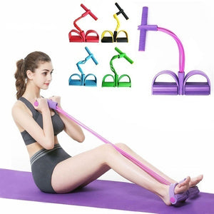 4 Tubes Fitness Resistance Band Rope Latex For Stretch Yoga Training Lose Weight Slim