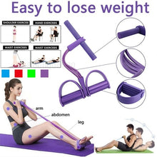 Load image into Gallery viewer, 4 Tubes Fitness Resistance Band Rope Latex For Stretch Yoga Training Lose Weight Slim