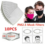 10Pcs PM2.5 Filter Paper Anti Haze Mouth Mask Anti Dust Mask Filter Paper Health Care