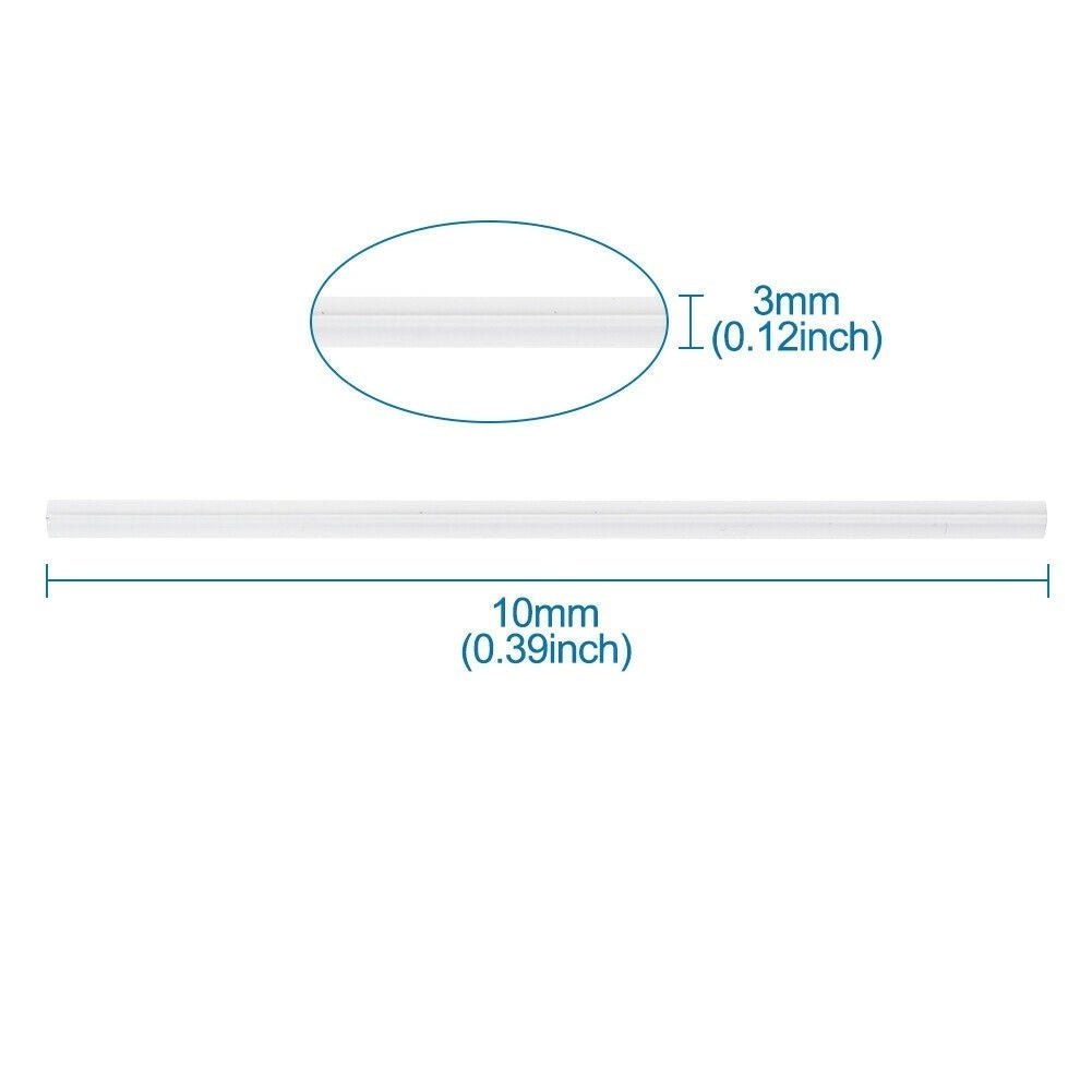 PE Plastic Bendable Wires Flexible Twist Nose Ties Bridge Sewing White 3mm 10cm