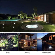 Load image into Gallery viewer, 4/8/10/12/16/20 LED Solar Lights Outdoor Pathway Waterproof In-Ground Buried Ground Lights Disk Lights Garden Decking Light
