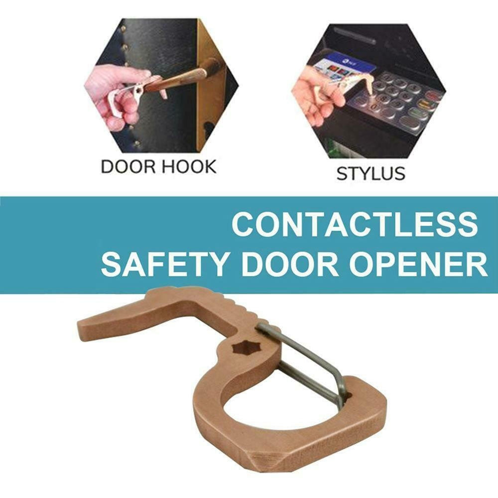 Drawer Door NO Touch Safety Protection Handle Assistant Contactless Door Opener Key Opener Kits Safety Door Opener