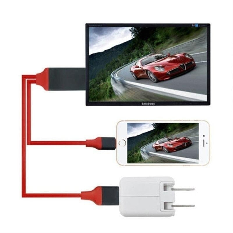 Android/iPhone/Type C Play Screen Display to HDTV Cable HDMI 1080p iOS USB Powered Converter Adapter
