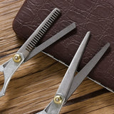 1 Pcs Stainless Steel Flat Teeth Blades Styling Tool Hair Scissors Thinning Hair Cutting Shears Tool