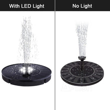 Load image into Gallery viewer, 10W High Power Solar Fountain Pump with LED Light, Energy Saving Plant Watering Kit, Fountain Pump Kit for Bird Bath, Garden, Backyard and Small Pond (no LED / with LED)