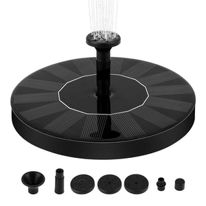 10W High Power Solar Fountain Pump with LED Light, Energy Saving Plant Watering Kit, Fountain Pump Kit for Bird Bath, Garden, Backyard and Small Pond (no LED / with LED)