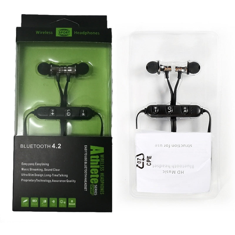 Metal Magnetic Wireless Bluetooth Earphone Sports Headset Stereo Bass Headphone Wireless Bluetooth Headset 20A28