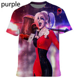 2020 Summer 3D Print Harley Quinn Joker Men and Women Birds of Prey Movies Hipster T Shirt