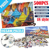 500pcs Jigsaw Puzzle Wooden Paper Puzzles Educational Toys for Adult Kids Bedroom Decoration toys